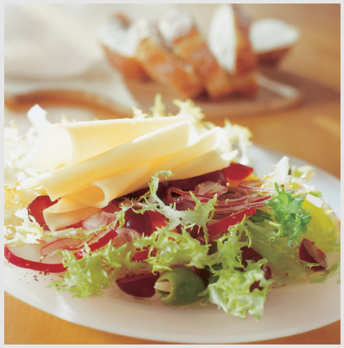 Joghurt_Käse-Paprikasalat mit Trauben