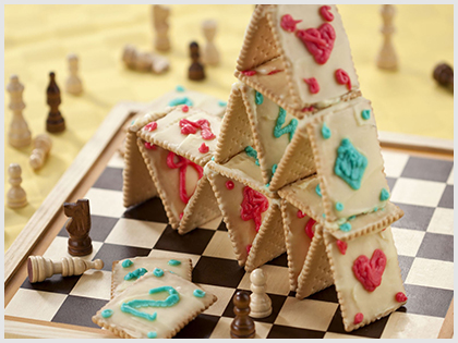 Castle of cards and biscuits