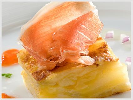 El Pozo – Omelete de batatas com Jamón Serrano