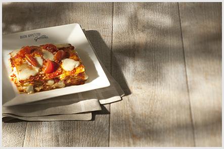Rana – Lasanha de tomate e mussarela