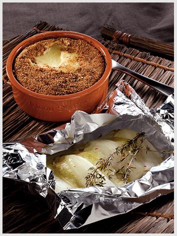 Isigny – Papelote de endívias com tomilho fresco e brie