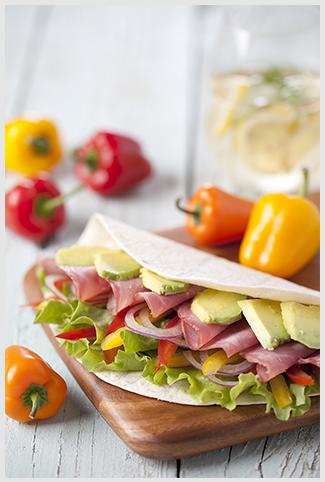 Primor-Burrito de salpicão e abacate