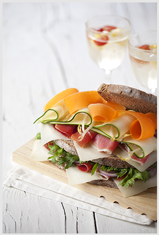 Primor – Sanduíche de presunto cru e Legumes